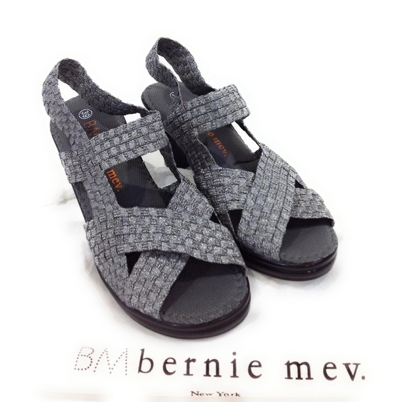 Bernie mev. scarpe   Pewter Bernie Mev Lizette Sandalos With Heel Pewter  ... 15335b